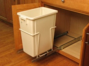 AA1860 - Sliding Trash Can - White