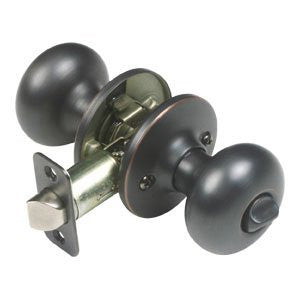 BP42210B - Better Home Products Mushroom Privacy Door Knob