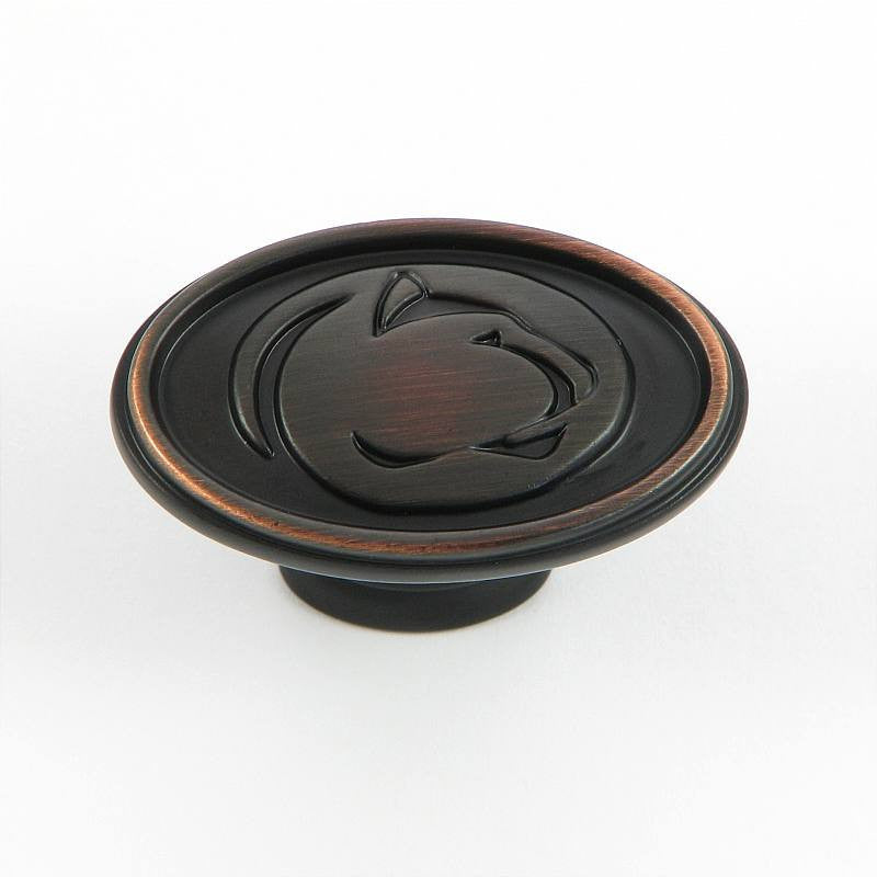 CL81097-OB-PSU   Penn State Cabinet Knob in Oil Rubbed Bronze Finish