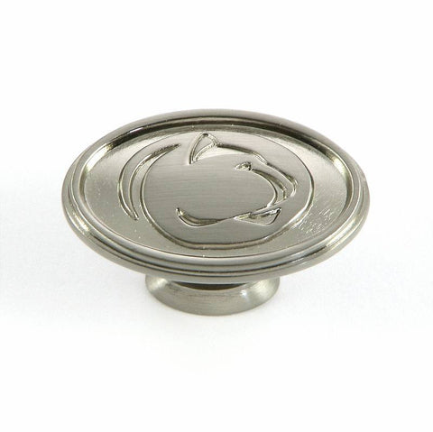 CL81097-SN-PSU   Penn State Cabinet Knob in Satin Nickel Finish
