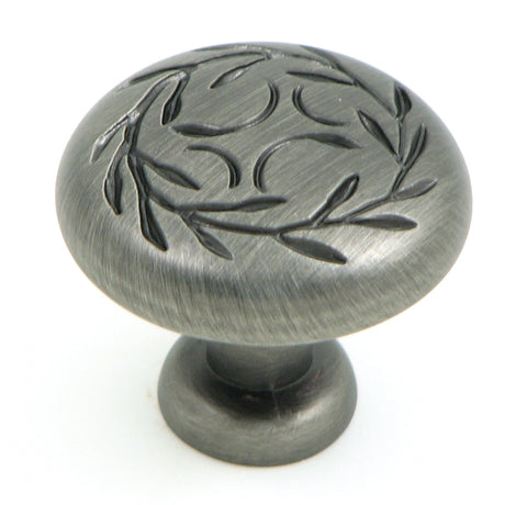 CP3041-WEN   Weathered Nickel Leaf Cabinet Knob