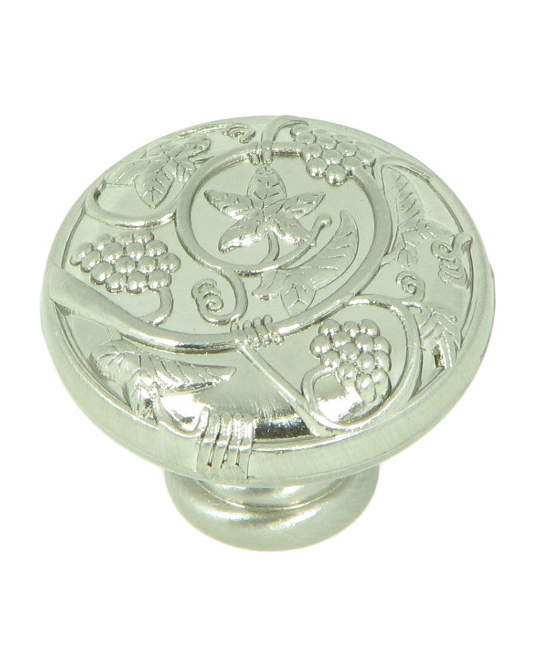 CP3079-SN   Satin Nickel Vineyard Harvest Cabinet Knob