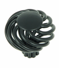 CP38-MB   The Matte Black Cornwall Birdcage Cabinet Knob