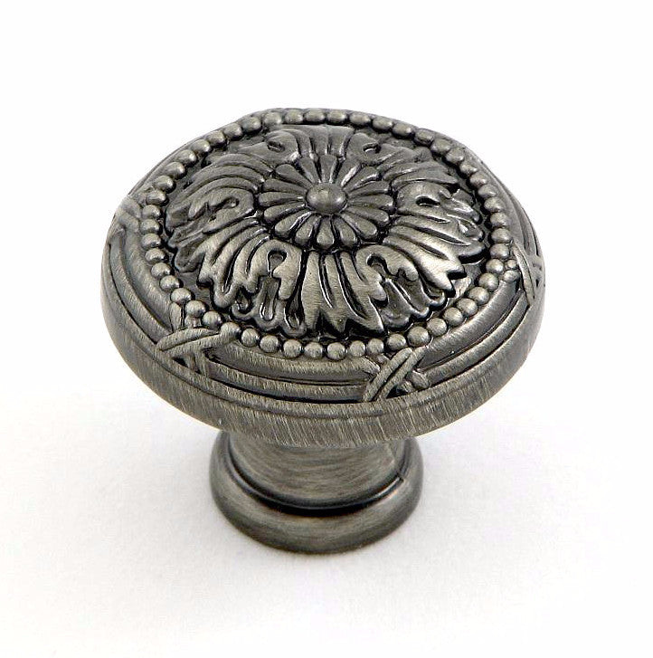CP2020-WEN   Weathered Nickel Floral Cabinet Knob
