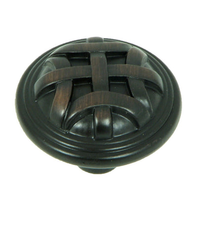 CP82115-OB   Oil Rubbed Bronze Cross Flory Cabinet Knob