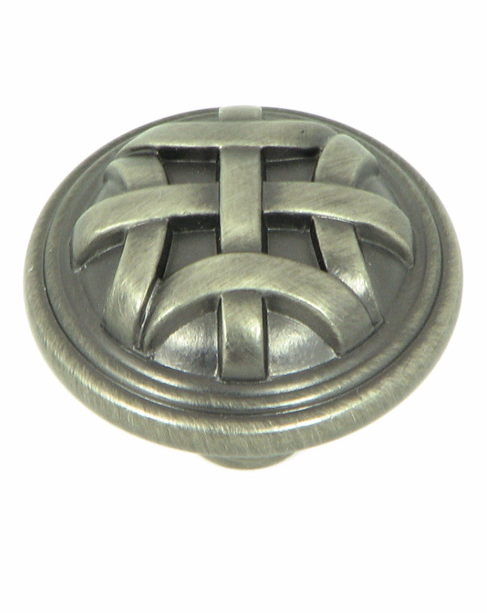 CP82115-WEN   Weathered Nickel Cross Flory Cabinet Knob