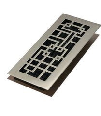 "DGAB410 - Decor Grates 4""x10"" Solid Brass Floor Register"""