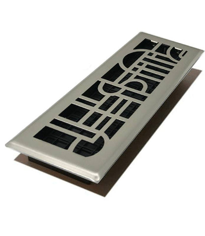 "DGADH412NKL - Decor Grate Art Deco 4""x12"" Floor Register"