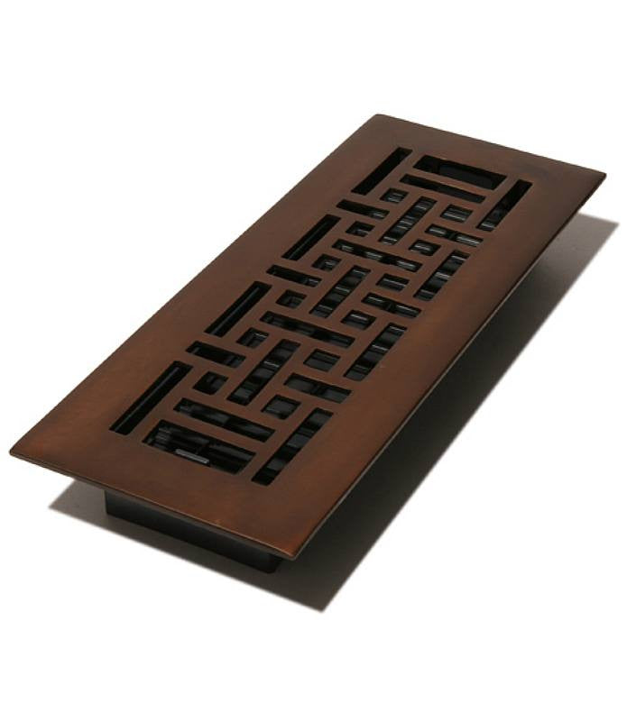 "DGAJ412 - Decor Grates 4""x12"" Oil Rubbed Bronze Floor Register"""