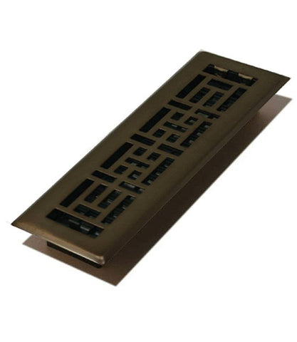 "DGAJH410RB - Decor Grates Oriental 4""x10"" Floor Register"