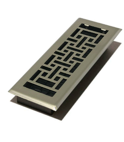 "DGAJH412NKL - Decor Grates Oriental 4""x12"" Floor Register"