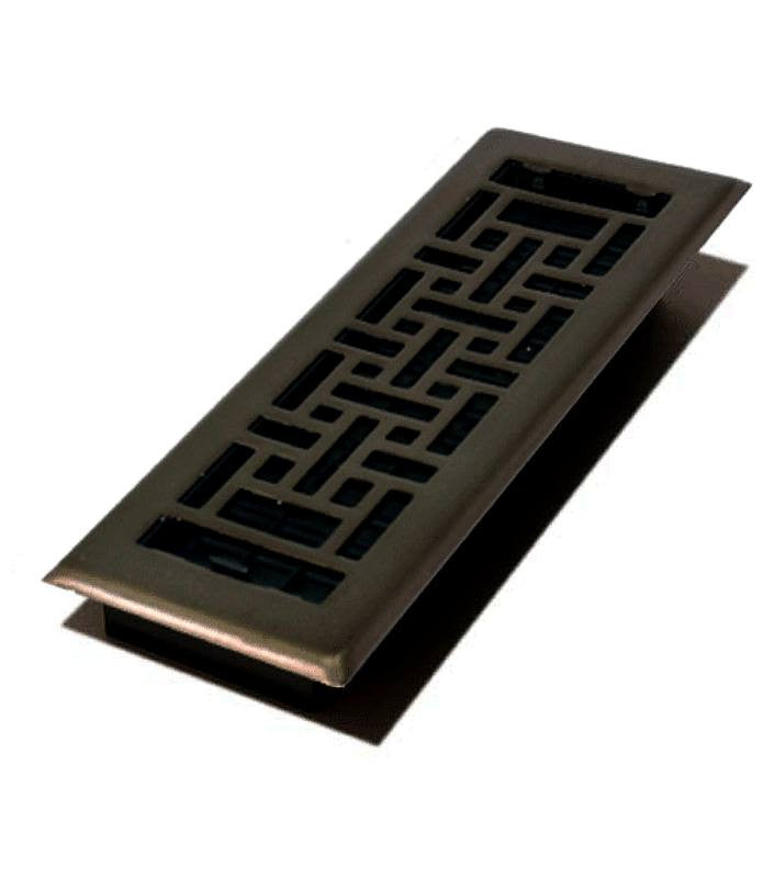 "DGAJH412RB - Decor Grates Oriental 4""x12"" Floor Register"