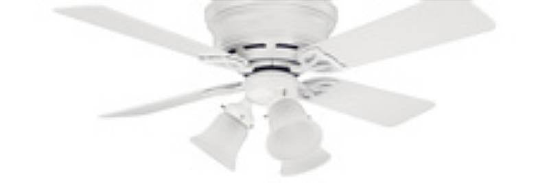 "HF23869 - 42"" Hunter Low Profile White Ceiling Fan- 23869"