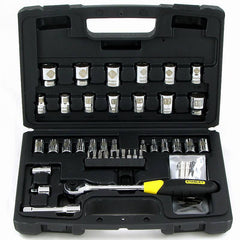 Stanley 50 Piece Micro Tough Ratchet & Socket Set - 92-810