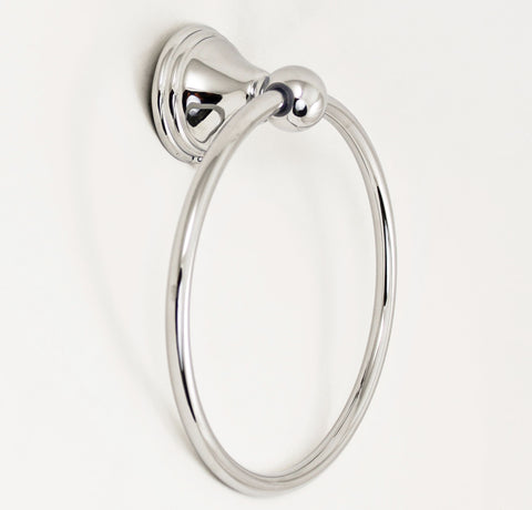 SMB15760-CH - Towel Ring in Chrome Finish, Lancaster Collection