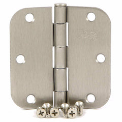 "SMH3558-SN   3.5"" Satin Nickel 5/8"" Radius Corner Door Hinge - (2 Pack)"
