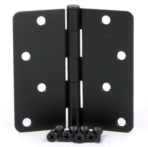 "SMH4014-OB   4"" Oil Rubbed Bronze 1/4"" Radius Corner Door Hinge - (2 Pack)"