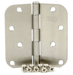 "SMH4058-SN   4"" Satin Nickel 5/8"" Radius Corner Door Hinge - (2 Pack)"