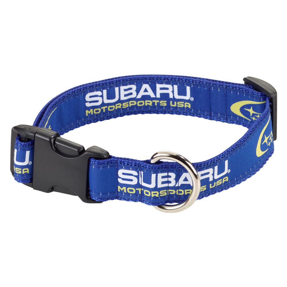 Subaru Motorsports USA Woven Pet Collar