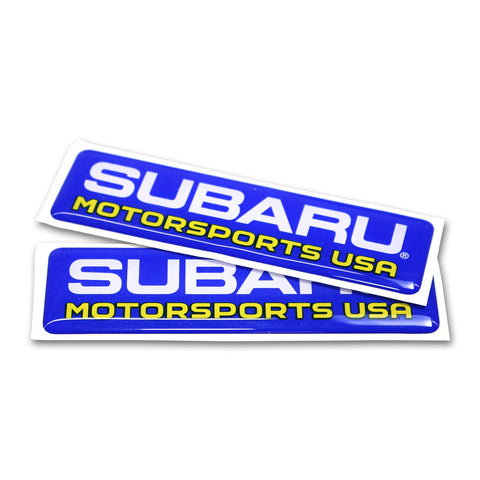 Subaru Motorsports USA Domed Vinyl Decals - 2 PACK