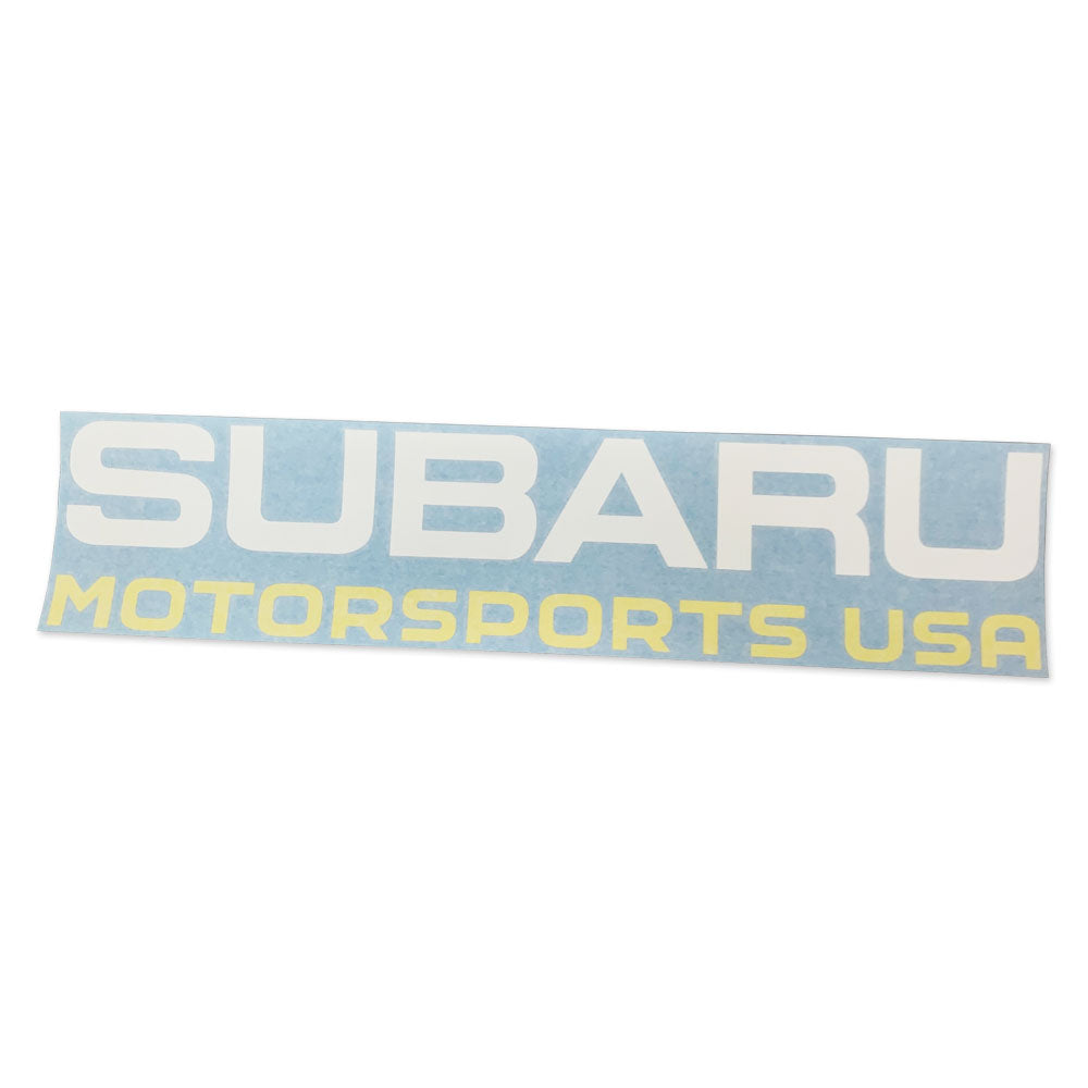 Subaru Motorsports USA - Die Cut Vinyl Windshield Decal