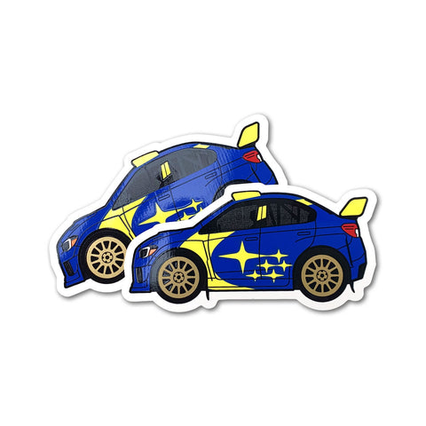 Subaru Motorsports USA Rally Car Vinyl Decals - 2 PACK