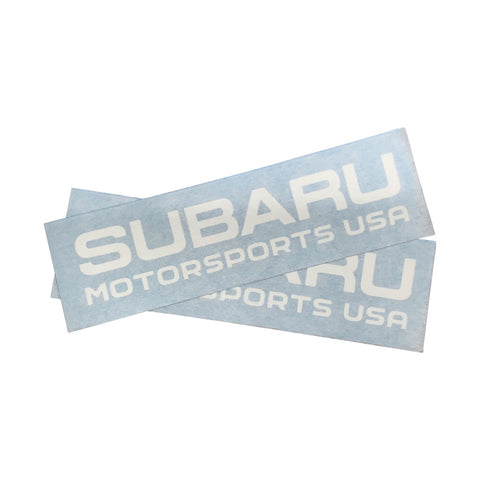 Subaru Motorsports USA Die Cut Vinyl Decals - 2 PACK