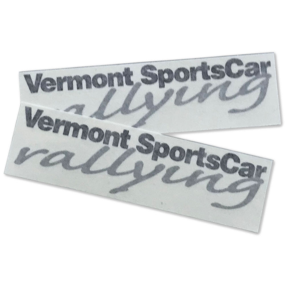 Vermont Sportscar Die Cut Vinyl Decals 2 Pack 2 Color