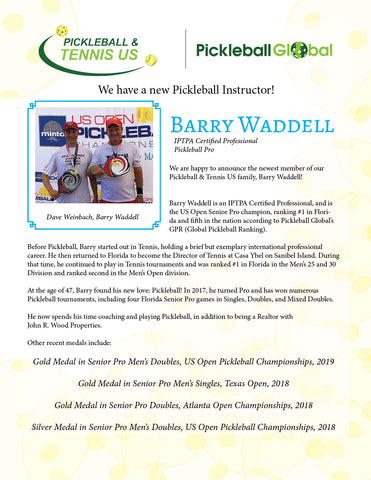 Barry Waddell Pickleball Instructor