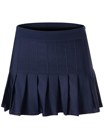 Lucky In Love Ultraviolet Long Retro Pleated Skirt CB287-401