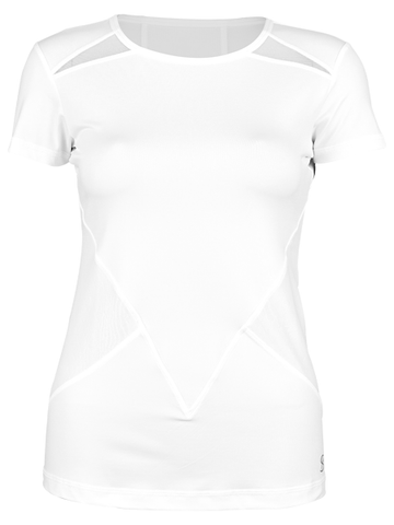 Sofibella Club Lux Short Sleeve Top 1963-WHT