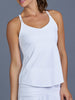 Denise Cronwall Club White Spaghetti Strap Top