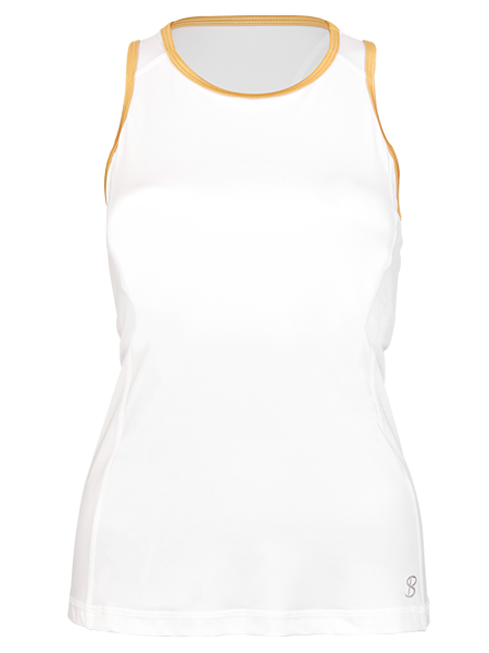 Sofibella Club Lux High Neck Tank 1739-WHT