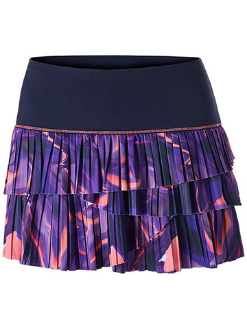 Lucky In Love Ultraviolet Illusion Pleated Scallop Skirt CB203-458504