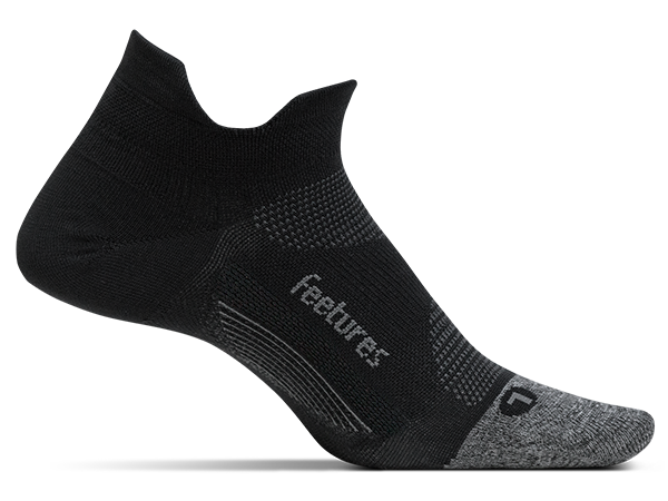 Feetures Elite Light Cushion No Show Tab Black Sock E50