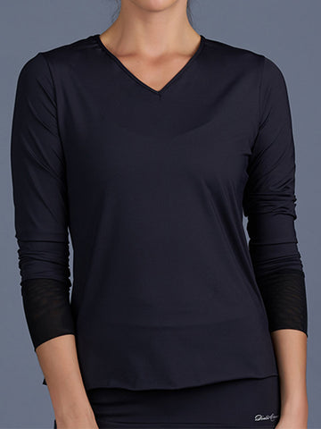 Denise Cronwall Blues Long-Sleeve Top