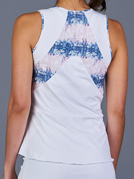 Denise Cronwall NY Square Tank Top White/Print