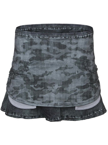 Lucky In Love Camo Pocket Skirt Grey CB238-534967