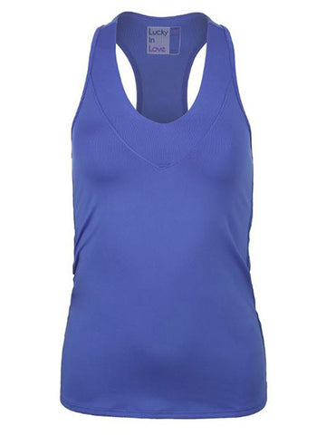 Lucky In Love Women's V-Neck Tank Periwinkle CT60-434