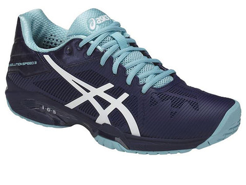 Asics Gel Solution Speed 3 Blue/White Women's Shoes E650N-4901