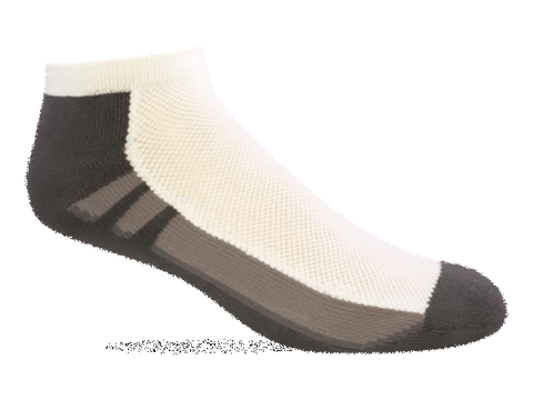 Jox Sox Men's Cushioned Low Cut White/Grey MCL104