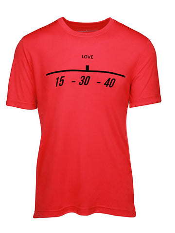 "Baseline Tennis ""15-30-40"" Men's Tennis T-Shirt BLT-24"