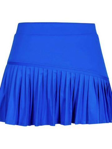 Tail Sapphire Hues Asymmetric Pleated Skirt Admiral Blue TB6898-8085