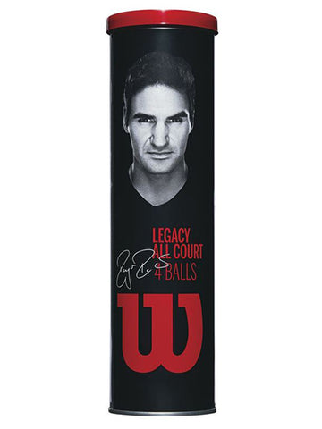 Wilson Federer Legacy 4 Ball Metal Can
