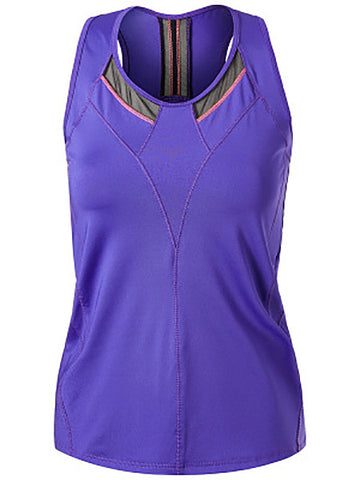 Lucky In Love Ultraviolet Edgy Racerback Tank CT466-504