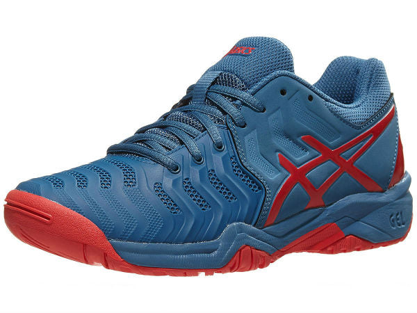 Asics Gel Resolution 7 Blue/Red Men's Shoes E701Y-400