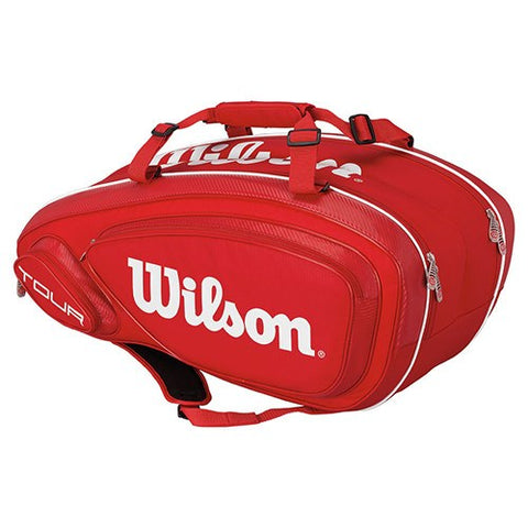 Bags - Wilson Tour V Red 9 Pack Bag
