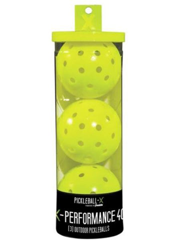Balls - Franklin X-40 Performance Outdoor Pickleball 3pk