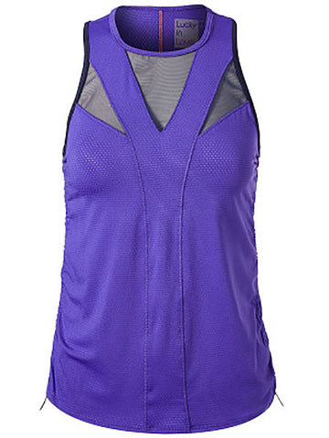 Lucky In Love Ultraviolet Y-Knot Ruche Tank CT443-504