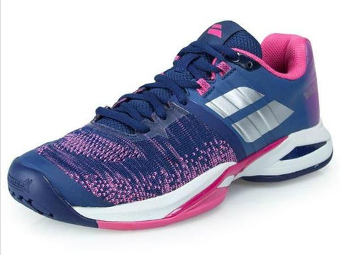 Babolat Propulse Blast All Court Womens Tennis Shoe Estate Blue/Fandango Pink